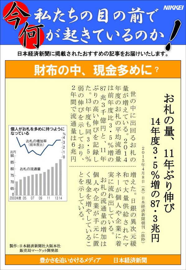 日本経済新聞MORI・MORIニュース 85号です。
