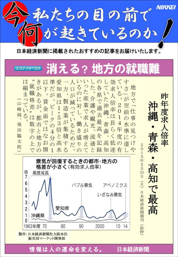 日本経済新聞MORI・MORIニュース 92号です。