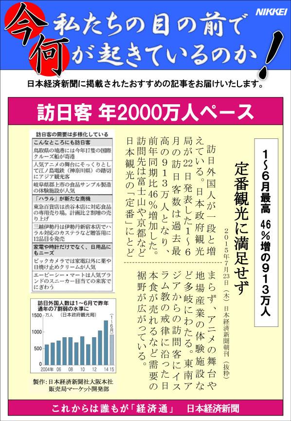 日本経済新聞MORI・MORIニュース 100号です。