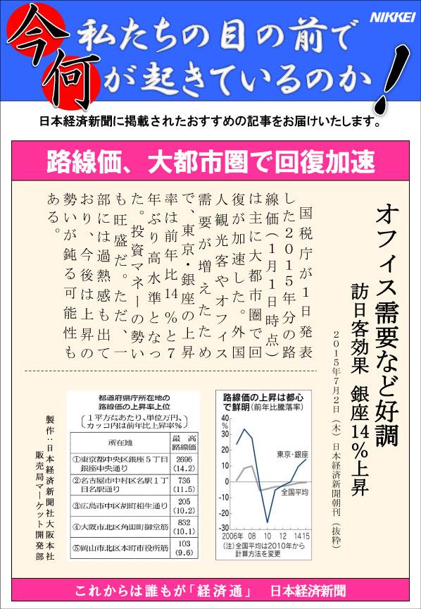 日本経済新聞MORI・MORIニュース 97号です。