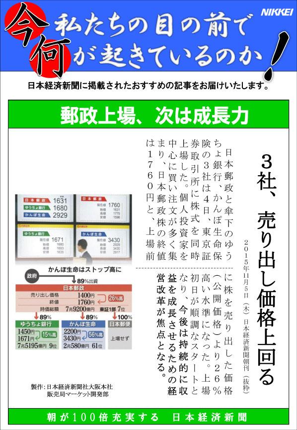 日本経済新聞MORI・MORIニュース 114号です。