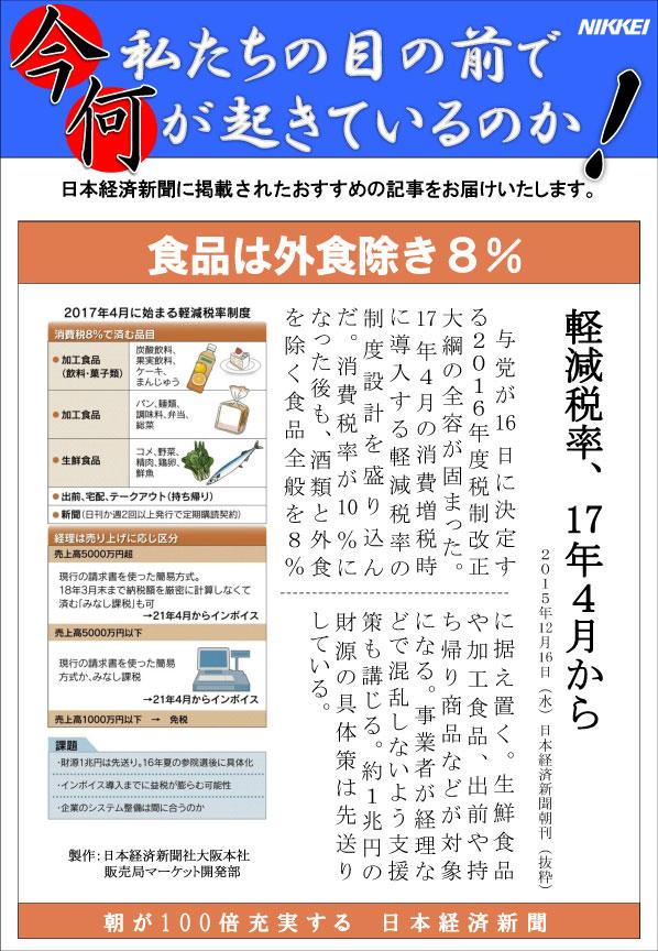 日本経済新聞MORI・MORIニュース 120号です。