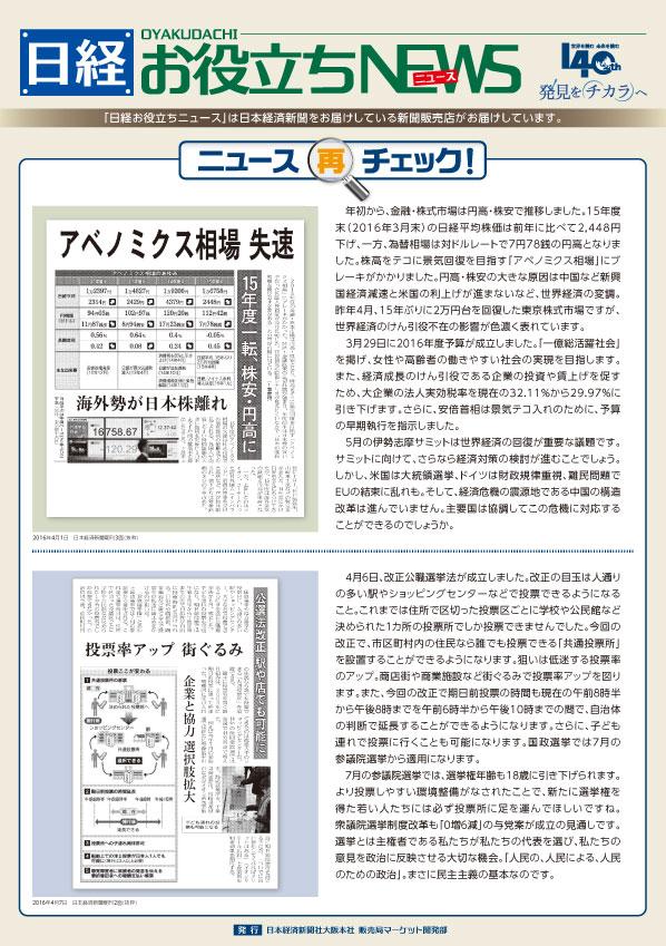日経お役立ちニュース 2016年4月14日