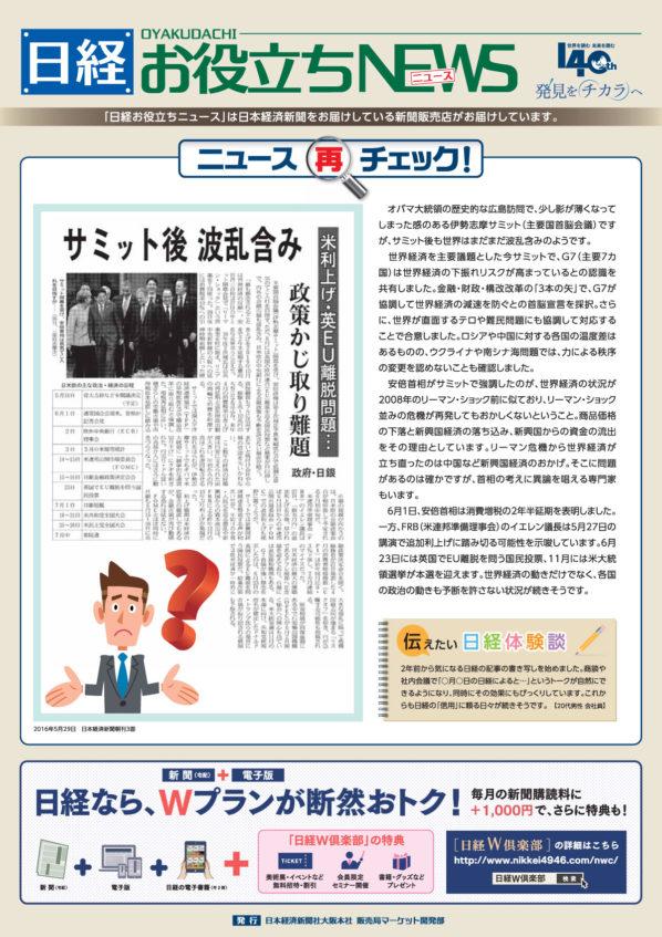 日経お役立ちニュース 4号です。